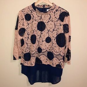 HD In Paris Dotted Lace Top Romantic Blouse| 12